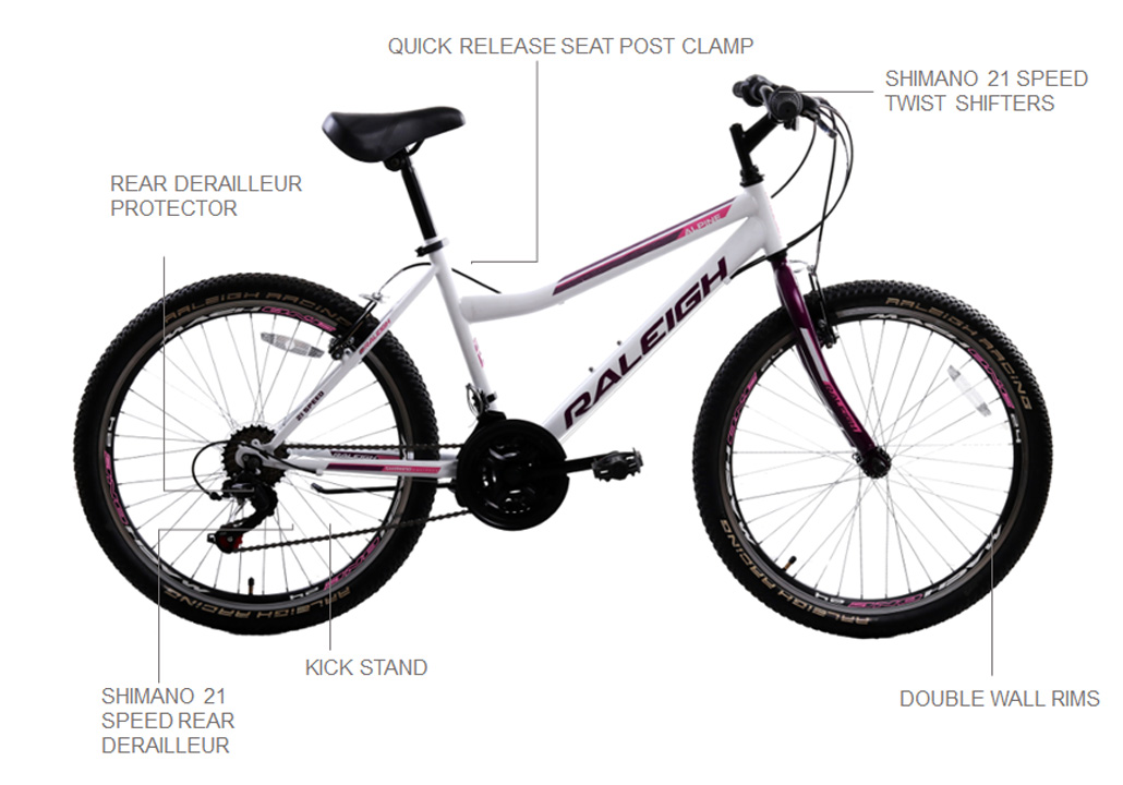 "Alpine 2.2 24"" Ladies Mountain Bike"