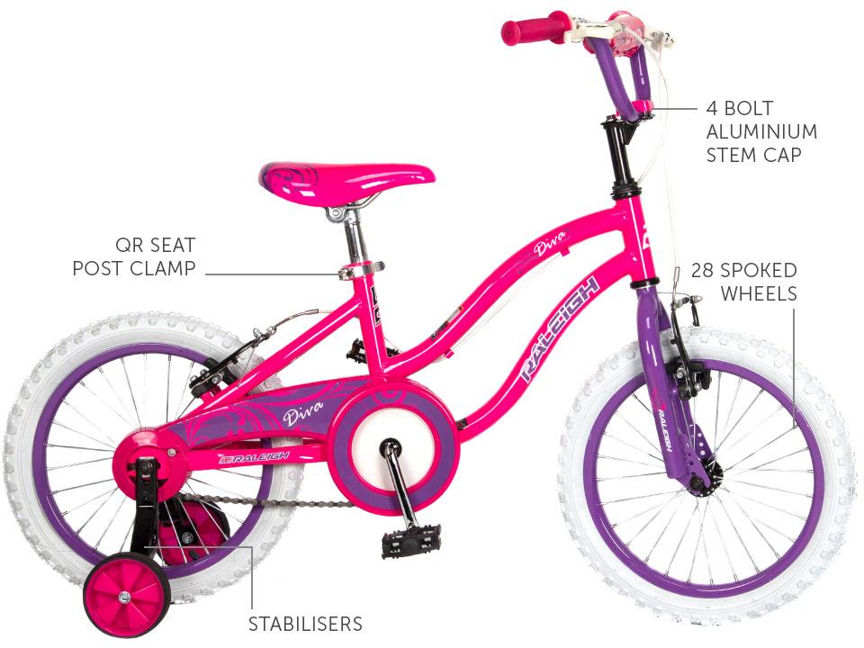 "Diva 16"" Girls BMX bicycle"