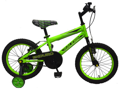 "Enduro 16"" Boys Mountain bike - Green"