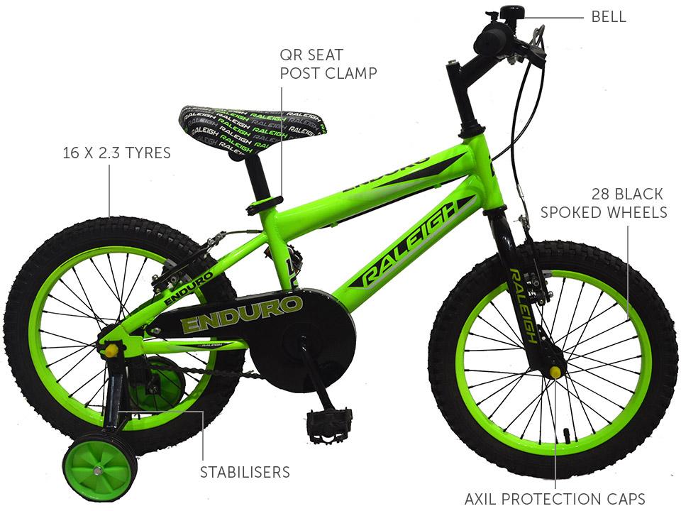 """Enduro 16"""" Boys Mountain bike"""