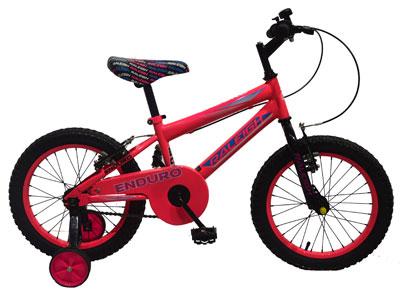 "Enduro 16"" Girls Mountain bike - Red"
