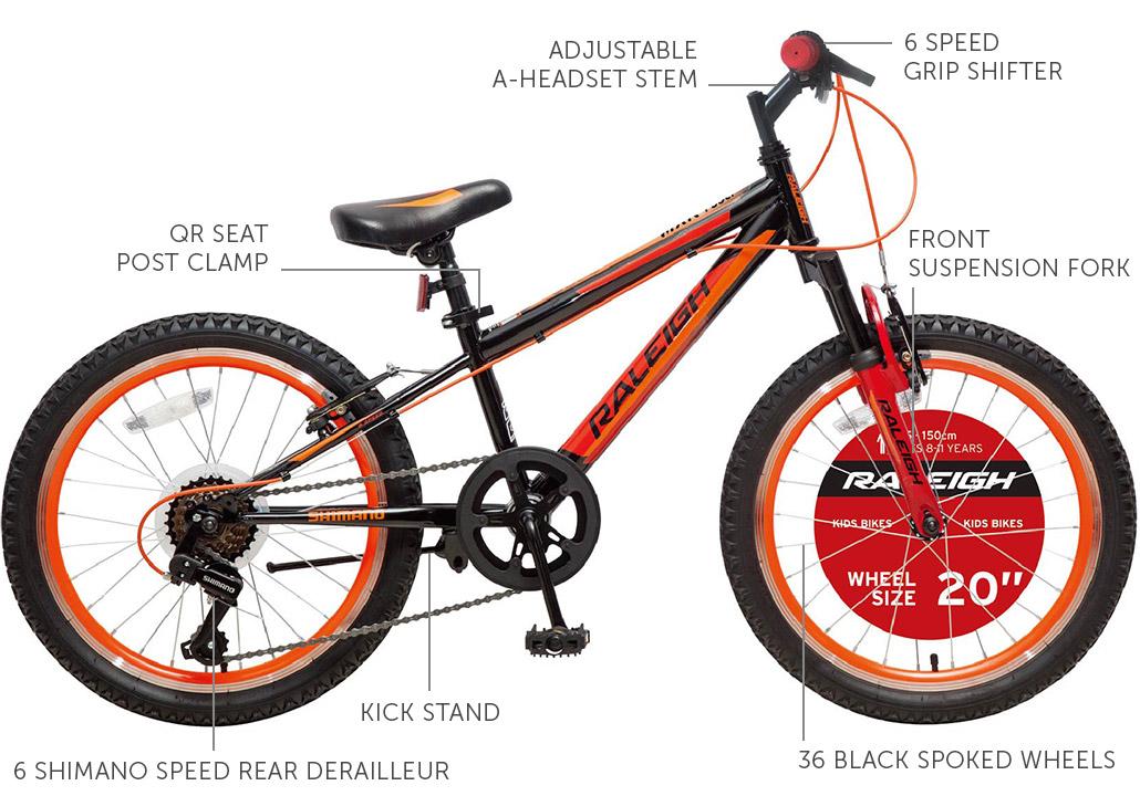 """MXR FS 6er 20"""" Unisex Mountain bike"""