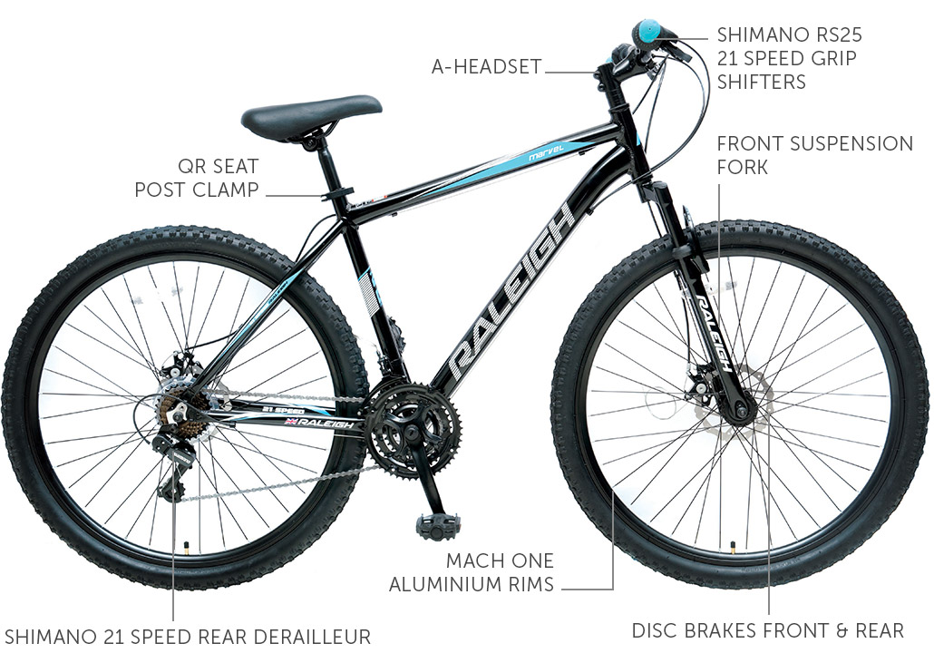 "Raleigh Marvel 29"" Aluminium Mountain Bike"