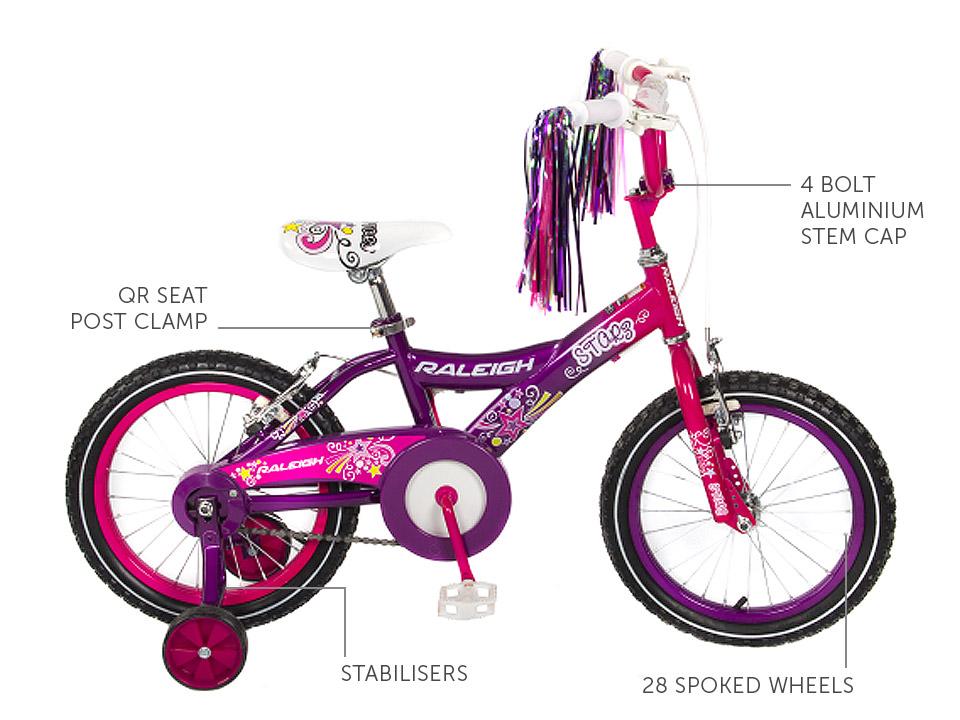"""Starz 16"""" Girls BMX bicycle"""