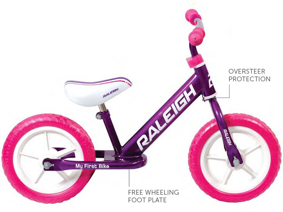 "My first bike pink - 12"" balance bike, specifications"