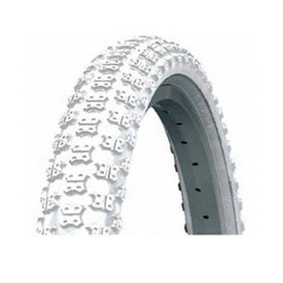 "16"" x 1.75 white mountain bike tyre"