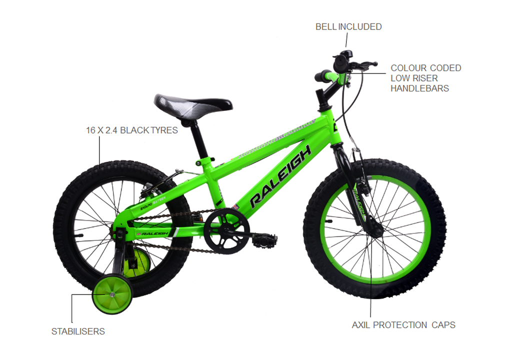 "ENDURO 16"" MOUNTAIN BIKE GREEN"