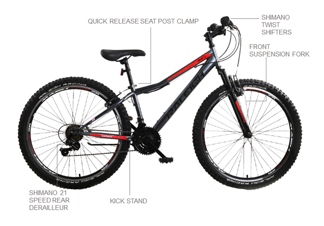 "Mirage 24"" Dark Grey Mountain Bike"