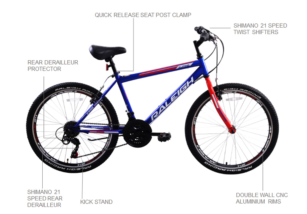 "Alpine 2.2 24"" Mountain Bicycle - Blue"