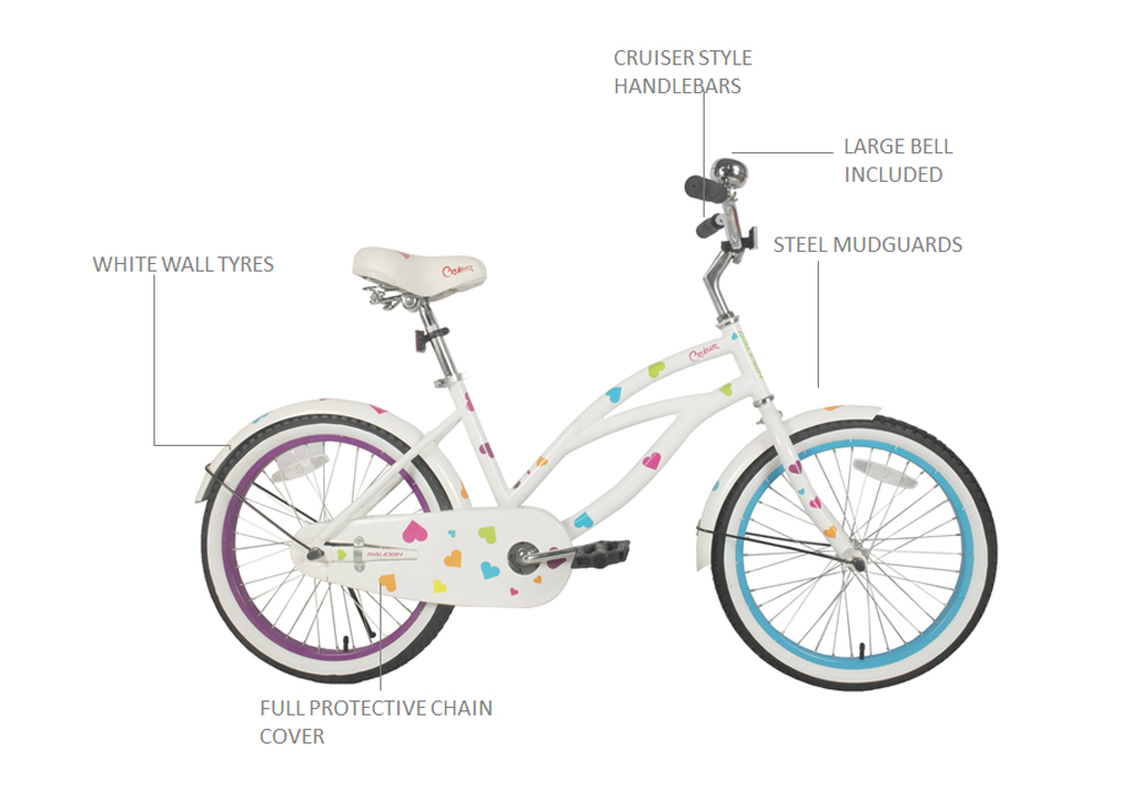"Cruiser 20"" Girls Bicycle"